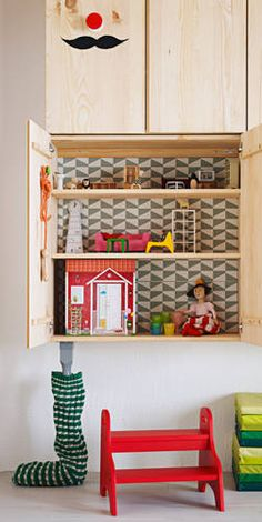 The dollhouse.. what a great idea! ~Ikea~