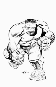 Hulk by Bruce Timm Bruce Timm, Comic Book Artists, Comic Books Art, Marvel Comic Universe, Marvel Comics, Black And White Artwork, Comic Page, Incredible Hulk, Marvel Fan