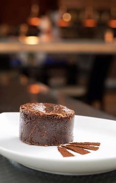 Fresh out of the Mandarin Oriental, Kuala Lumpur oven, this Valrhona chocolate lava cake is calling your name! #MOfoodies