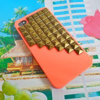 iPhone hard case cover with bronze pyramid for apple iPhone 4 case,iPhone 4S case , iPhone 4GS case,iPhone hand case