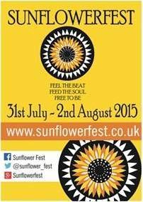 Sunflowerfest , Hillsborough Co Down  July 31st - Aug 2nd 2015 http://www.sunflowerfest.co.uk/