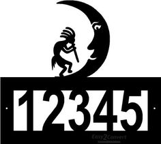 Custom Steel Kokopelli with Moon address sign by Designs Of Steel. $29.99. FREE SHIPPING in the US. This beautiful custom steel address sign is extremely sturdy. The high quality makes for a nice addition to your home or a great gift! We will contact you for your customization after your purchase. Remember there are 5 number spaces available for customization. Garden Plaques, Outdoor Gardens, Great Gifts, Moon, Spaces, Number, Free Shipping, Steel, Nice