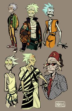 nickthoffman: An exercise in 80′s Ricks feat. bad colours & bad life choices.