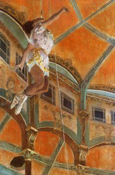 Miss La La at the Cirque Fernando Edgar Degas (French, Oil on canvas. The National Gallery. The acrobat Miss La La caused a sensation when she performed at the Cirque Fernando in. Edgar Degas, Manet, Degas Paintings, National Gallery, Henri De Toulouse Lautrec, Art Ancien, Pierre Auguste Renoir, Post Impressionism, Art Uk