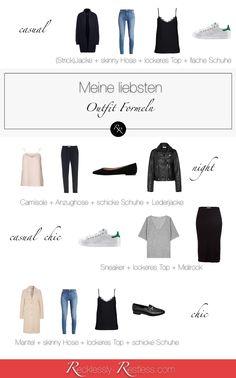 Outfit Formel: Outfits zusammenstellen leicht gemacht - mit der Outfit Formel! Vier meiner liebsten Outfit Formeln.  Outfit Formula