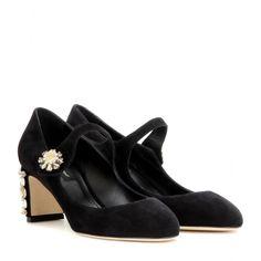 Dolce & Gabbana - Mary Jane in suede con cristalli - mytheresa.com