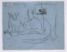 Estudio de composición (I). Dibujo preparatorio para «Guernica»