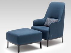 Contemporary armchair with footstool - 366 by Brigit Hoffmann