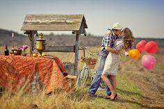 для свадьбы в деревенском стиле - всё должно быть продумано