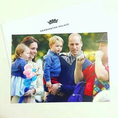 THE CAMBRIDGE'S CHRISTMAS CARD 2016... PICTURE TAKEN DURING ROYAL TOUR OF CANADA, 29TH SEPTEMBER 2016.