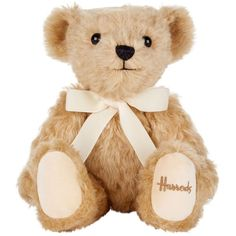 Harrods of London Mohair Teddy Bear (24cm) ❤ liked on Polyvore featuring accessories