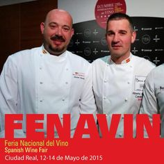 """No os perdáis mañana """"La innovación del vino dentro de la cocina""""! @Rubenchef71 @fenavin_oficial #fenavin2015"""