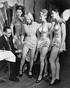 Chorus Girls Receiving A Vaccination Needle In Thigh 8x10 Reprint Of Old Photo