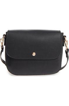 505712b1489e Minimal Faux Leather Crossbody Bag