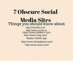 7 Obscure Social Media Sites