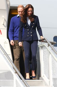 The Duke & Duchess of Cambridge on their arrival in Auckland this morning 11/04/2014
