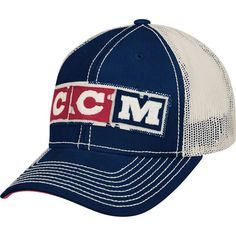 CCM Junior Mesh Back Trucker Hockey Hat, Blue