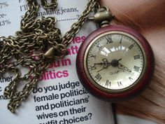 Wooden Necklace Locket Pendant Chain by tinycrown on Etsy, $6.49