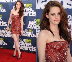 Dear Kristen Stewart, Can I have your dress?     Dress #1 -- *Safety Pin Dress by Balmain*