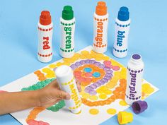 Regular Dot Art Painters from Lakeshore make dazzling patterns…or brush them on to produce a classic painted look! #BacktoSchool