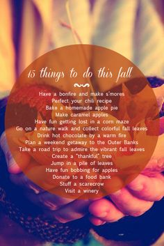 Autumn Bucket List: 15 Things to Do This Fall