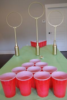 You need this at your adult Harry Potter party., DIY and Crafts, Butterbeer Pong Quidditch? You need this at your adult Harry Potter party. Harry Potter Diy, Harry Potter Adult Party, Natal Do Harry Potter, Harry Potter Motto Party, Harry Potter Fiesta, Harry Potter Halloween Party, Theme Harry Potter, Harry Potter Birthday, Harry Potter Movies
