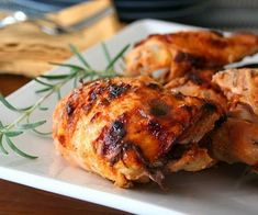 Crispy Rosemary Sriracha Chicken Thighs - honestly one of the best chicken dishes I've ever tasted!