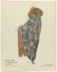 Evening Cloaks from the Gazette du Bon Ton, Anonymous, Bianchini-Férier, Lucien Vogel, 1922