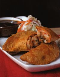 Shrimp Empanadas with Chipotles, Tomatoes, and Cilantro