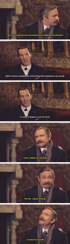 Sherlock: Martin Freeman and Benedict Cumberbatch