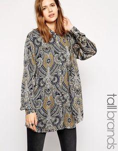 Image 1 ofGlamorous Tall Oversize Shirt in Tile Print