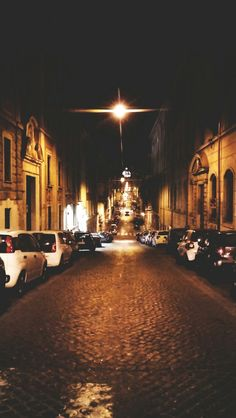 Follow the light. Most beautiful street. San Pietro. Night lights. City lights. Italy. Rome. Romantic view.