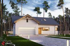 E-184 - E-DOMY.pl Projekty domów jednorodzinnych, piętrowych, energooszczędnych.
