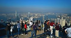 Sky Terrace 428 at #ThePeakTower on #ThePeak. #DiscoverHongkong #HongKong #Travel #Photography #VantagePoints #Perspective