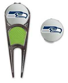 NFL Official Seattle Seahawks Golf Ball Mark Repair Tool  Hat Clip Combo *** See this great product. Note:It is Affiliate Link to Amazon.