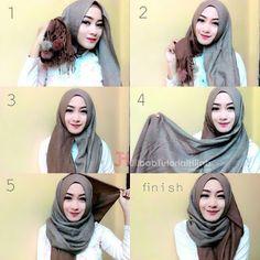 Hijab Tutorial - Tutorial Hijab Pashmina untuk ke Kantor Simple dan Modis terbaru. Model Style Hijab