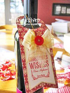 Christmas Wine Tags