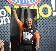 Johnny Gray celebrates his last day as a full-time Funny Car driver