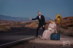 Hitchhiking for Luv #ValleyOfFireWeddings #VegasWedding #DesertWeddings