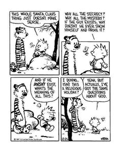 """Quoting wikipedia, """"Calvin and Hobbes is a daily American comic strip created by cartoonist Bill Watterson that was syndicated from November Calvin And Hobbes Comics, Calvin And Hobbes Quotes, Hobbes And Bacon, Fun Comics, Snoopy Comics, Comic Strips, The Funny, Nerdy, Funny Pictures"""