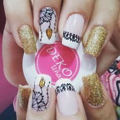 Instagram Image Pink Gel Nails, Love Nails, Acrylic Nails, My Nails, Gorgeous Nails, Pretty Nails, Henna Nails, Feather Nails, Manicure E Pedicure