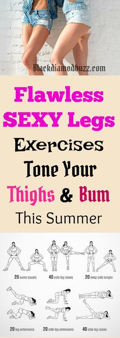 Flawless Sexy Legs Exercises to Tone Your Thigh and Bum at Home in 2 Weeks