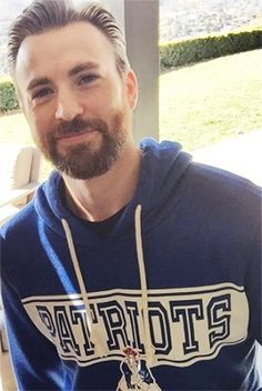 Chris Evans<---I forgive him for wearing that dreaded Patriots hoodie, just this once.