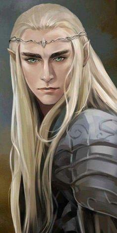 thranduil fan art by moliko Fantasy Male, Fantasy World, Elves Fantasy, Legolas And Thranduil, Tauriel, Arte Game Of Thrones, Elf King, O Hobbit, Elvish