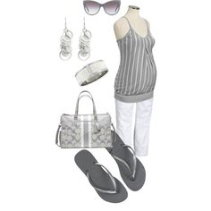 Maternity in Gray/Silver by miclynn1974 on Polyvore