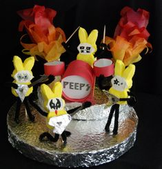 Peeps Rock City: Kiss tribute made out of Peeps in the MLive Peeps Diorama contest
