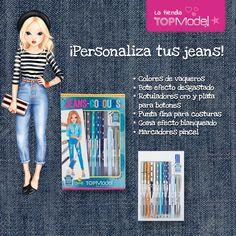 ¿Te encanta la #moda? Pues entonces te encantará este pack de materiales para #tunear tus #jeans.  #DIY