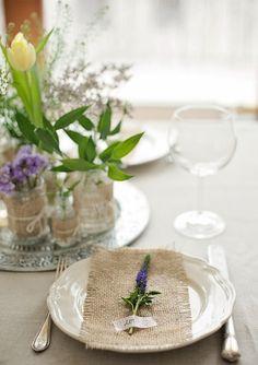 Весенняя сервировка стола в стиле рустико. - тысяча разных идей