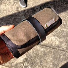 Sneak peek of upcoming tool roll from Lemolo Baggage.
