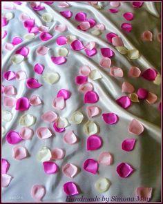 Petale artificiale de trandafir satin roz
